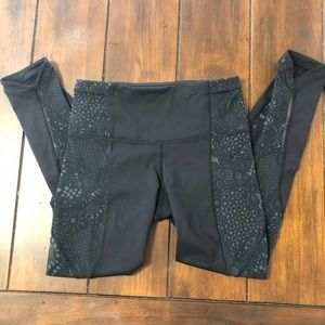 Lululemon Run with The Sun Tight Black Leggings